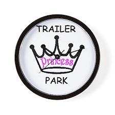 trailer park princess pink Wall Clock