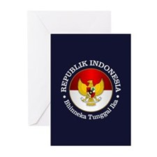 Indonesia (rd) Greeting Cards
