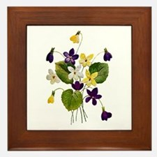 VIOLETS Framed Tile