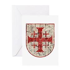 Jerusalem Cross, Distressed Greeting Card