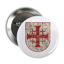 "Jerusalem Cross, Distressed 2.25"" Button (10 pack)"