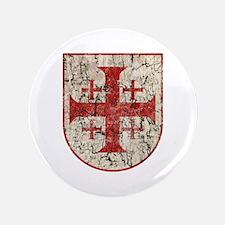 "Jerusalem Cross, Distressed 3.5"" Button"