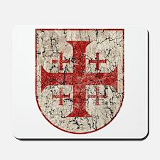 Jerusalem Cross, Distressed Mousepad