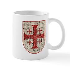 Jerusalem Cross, Distressed Mug