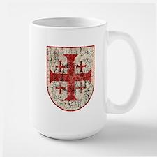 Jerusalem Cross, Distressed Large Mug