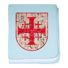 Jerusalem Cross, Distressed baby blanket