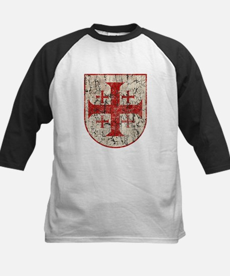 Jerusalem Cross, Distressed Kids Baseball Jersey