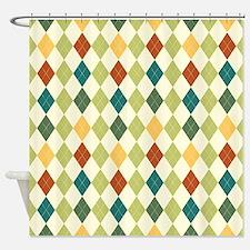 Paxton Argyle Pattern Shower Curtain