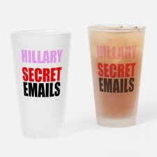 Hillary Secret Emails Drinking Glass