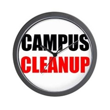 Campus Cleanup Wall Clock