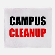Campus Cleanup Throw Blanket