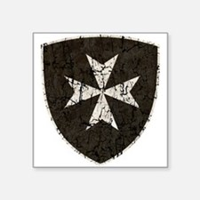 "Knights Hospitaller Cross, Square Sticker 3"" x 3"""