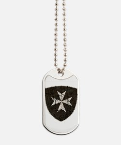 Knights Hospitaller Cross, Distressed Dog Tags