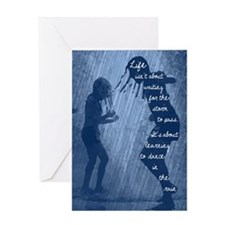 Dancing in the Rain Greeting Cards