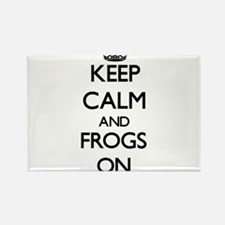 Keep Calm and Frogs ON Magnets