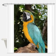 Yellow and Blue Macaw Shower Curtain