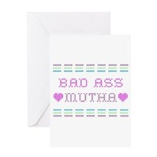 Bad Ass Mutha Greeting Cards
