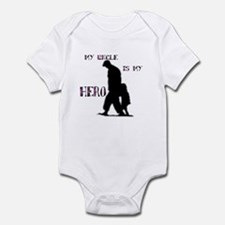 """my uncle is my hero"" Infant Bodysuit"