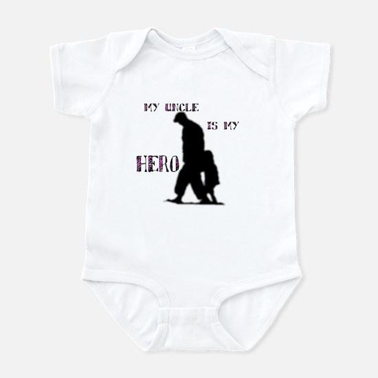 """my uncle is my hero"" Infant Bodysuit"