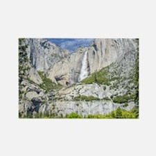 Waterfalls in the Spring Rectangle Magnet