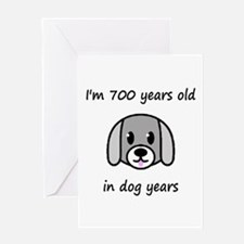 100 dog years 2 - 2 Greeting Cards