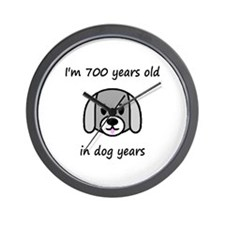 100 dog years 2 - 2 Wall Clock