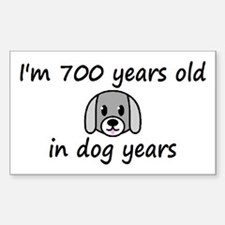 100 dog years 2 - 3 Decal