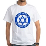 Fight terror support israel Mens Classic White T-Shirts