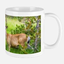Buck in a Lush Green Meadow Mug