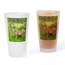 Buck in a Lush Green Meadow Drinking Glass
