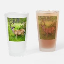 Buck in a Lush Green Meadow Drinking Glass