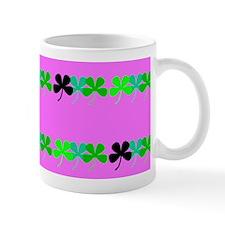 Pink Green Irish 4 Leaf Clovers Leora's Fave Mugs