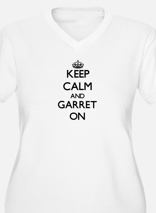Keep Calm and Garret ON Plus Size T-Shirt