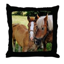 Sweet Horse Pair Throw Pillow