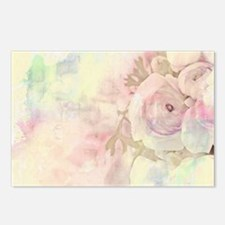 Pastel roses Postcards (Package of 8)