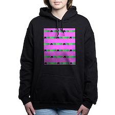 Pink Green Irish 4 Leaf  Women's Hooded Sweatshirt