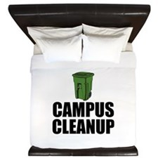 Campus Cleanup King Duvet