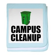 Campus Cleanup baby blanket