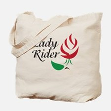Lady Rider Red Rose Tote Bag