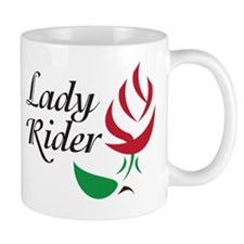 Lady Rider Red Rose Mug