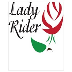Lady Rider Red Rose Canvas Art