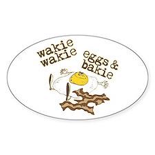 Wakie Wakie Eggs & Bakie Oval Decal