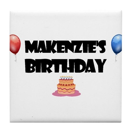 Makenzie's Birthday Tile Coaster