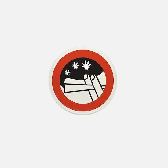 Joint Smoking Forbidden - Holland Mini Button