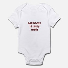 happiness is being Myah Infant Bodysuit