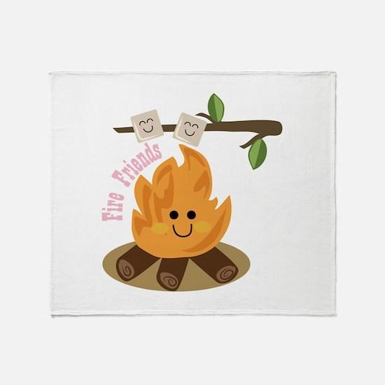 Fire Friends Throw Blanket