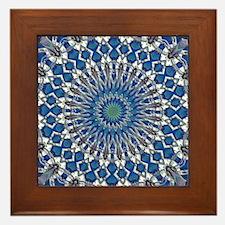 Sand and Sea Mandala Framed Tile