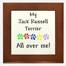 Jack Russell Walks Framed Tile