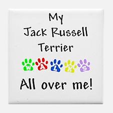 Jack Russell Walks Tile Coaster