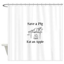 Save A Pig Shower Curtain